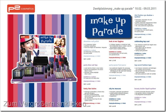 make up parade