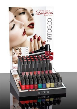 All about Lacquers ARTDECO Thekendisplay